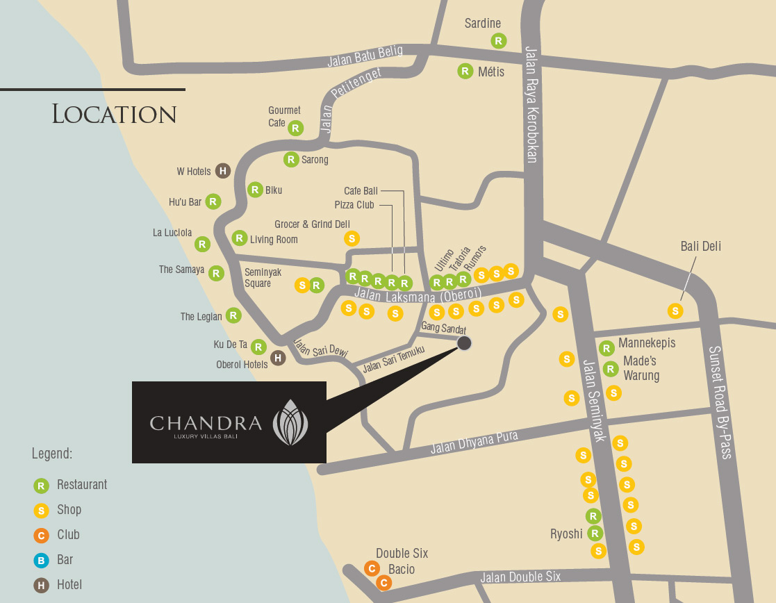 Chandra Bali Villas Location