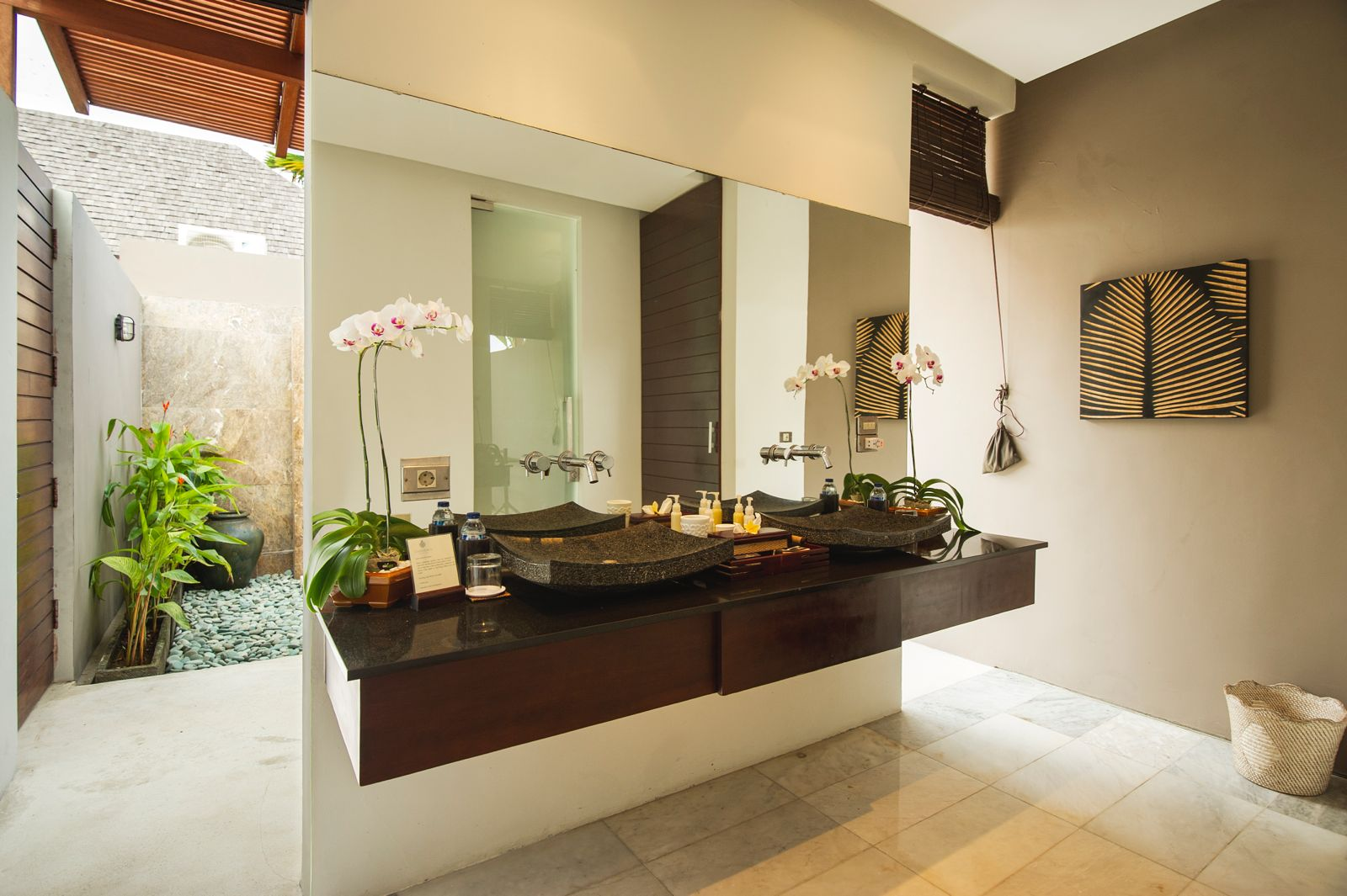 three bedroom villa bathroom chandra bali villas seminyak