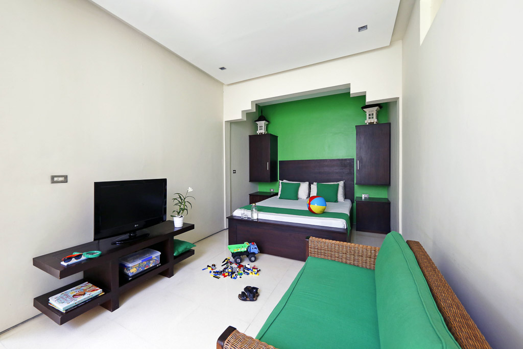 The half bedroom is a great childs room, with bathroom ...
