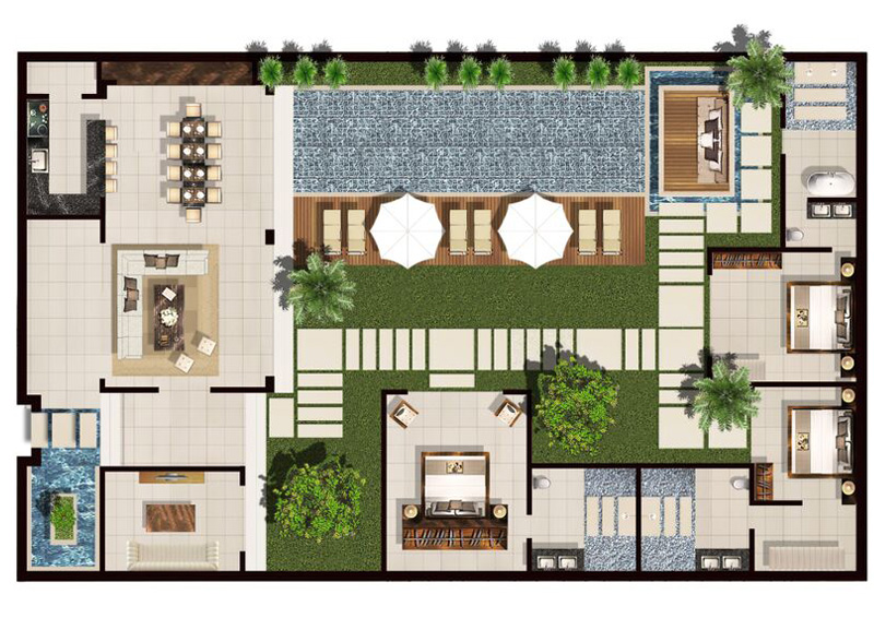 3 bedroom premium villa 600sqm of space chandra bali 3 bedroom villa floor plans